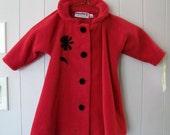 Swing Coat Red Babys 24 mos.
