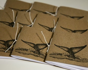 Whale's Tail Mini Notebooks (set of 10)