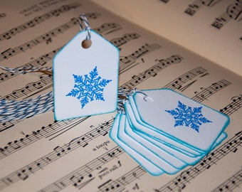 Snowflake Winter Holiday Gift Tags (set of 10)