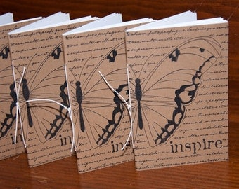 Inspire Butterfly Mini Notebooks (set of 10) Party Favors