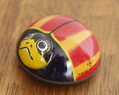 Vintage 1960s Tin Beetle Friction Toy Made in Japan