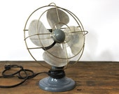 Vintage Electric Fan, Polar Cub, Blue Grey