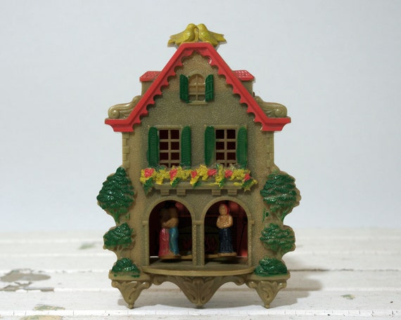 Vintage Weather Forecaster, Plastic House with Witch, Children and Halloween Scene