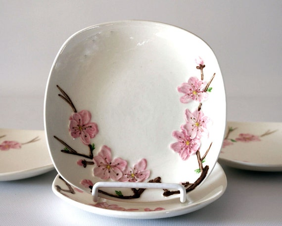 Peach Blossom Poppytrail Bread and Butter Plates