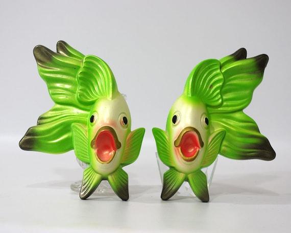 Vintage Chalkware Fish, Miller Studios, Retro Kitsch