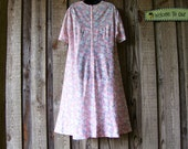 Floral Dress, comfy my handmade dress, FREE size, large size lady are welcome