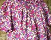 Large size dress, my handmade, floral maxi dress