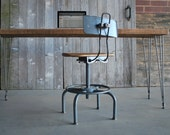 "Custom Mid-Century Styled Industrial Reclaimed Wood Desk (150 year plus ""old growth"" wood)"