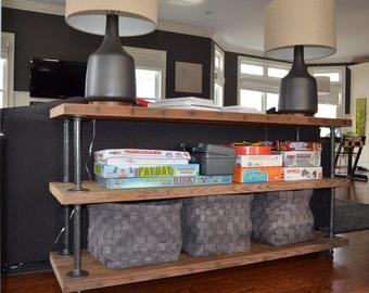 Industrial Reclaimed Wood shelves  (3 shelves)