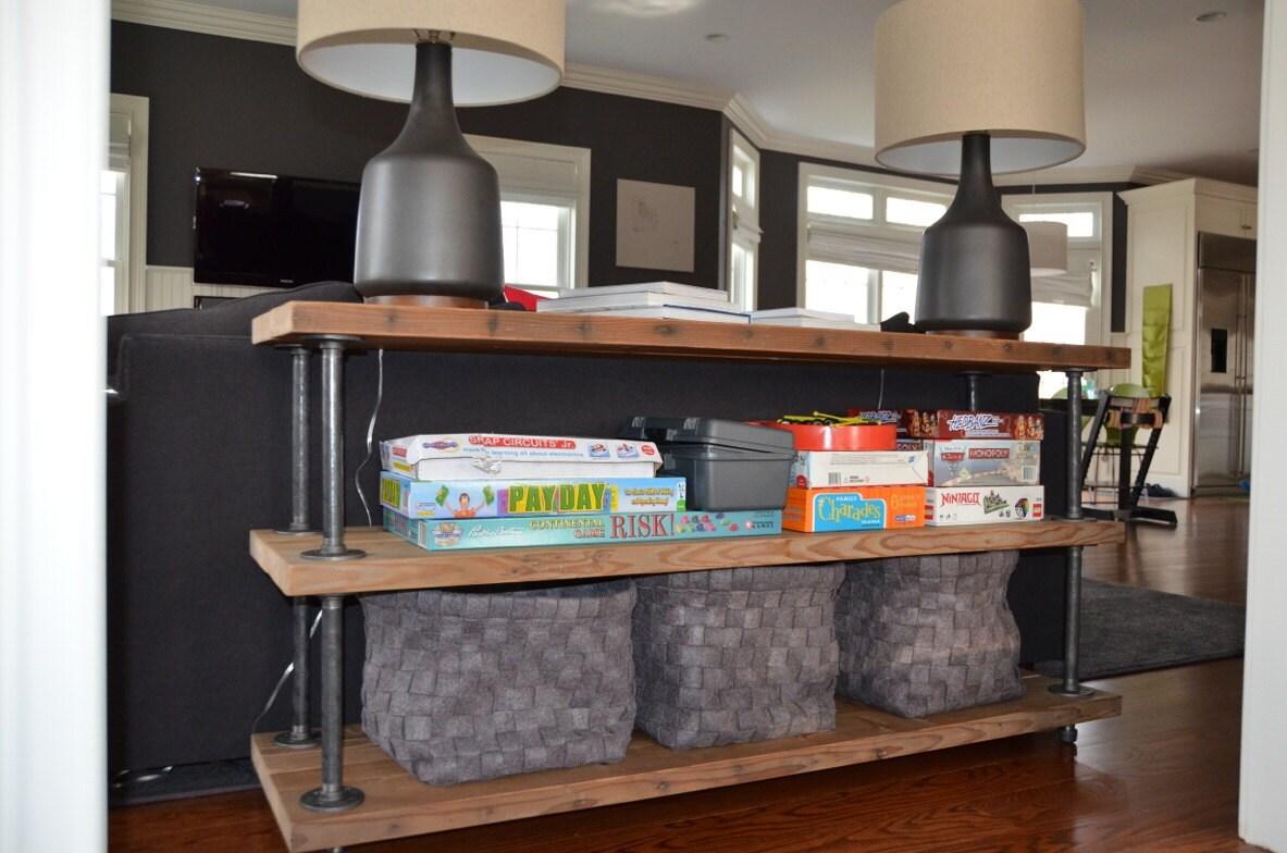 Industrial Reclaimed Wood Shelves 3 Shelves