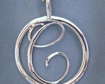 C Initial pendant/medallion