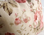 Rough Rose throw pillow cover