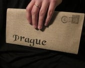 Prague Cotton Clutch Cotton Canvas Envelope Bag
