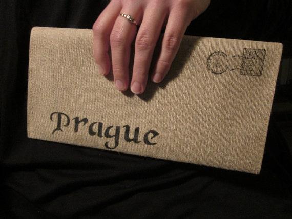 Prague Cotton Clutch Cotton Canvas Envelope Bag