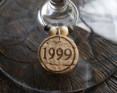 Reserved Custom Order:  Cork Wine Glass Charms