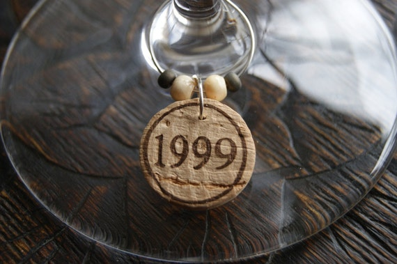 Cork Wine Glass Charms