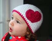 CROCHET hat pattern crochet patterns with heart applique baby hat pattern (33) includes 4 sizes from newborn to adult
