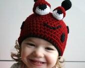 Baby Crochet hat pattern ladybug halloween crochet beanie (44)