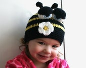 Crochet pattern busy bee beanie (47) includes 5 sizes from newborn to adult - you are welcome to sell your work from this pattern
