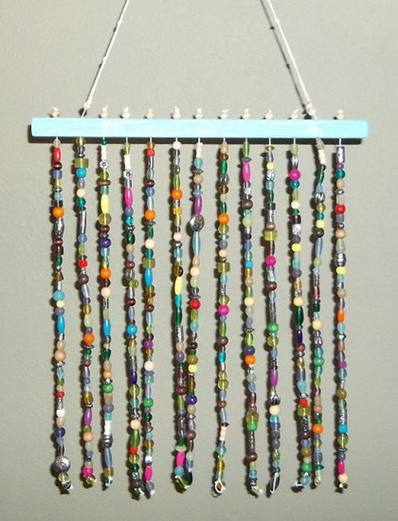 Gypsy Boho Beaded Mobile Wall Art - Sun Catcher