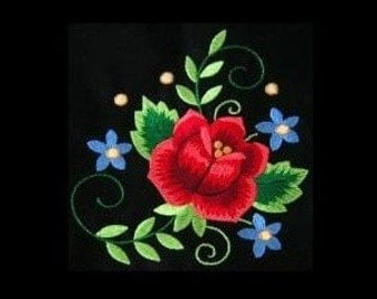 Polish Floral Machine Embroidery Design 1