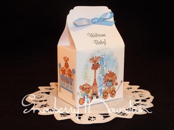 Jungle Babies Boy - Baby Shower Favor Boxes- set of 10