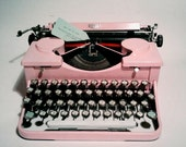 Pink Royal Typewriter Reconditioned in Working Order