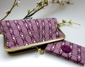 Retro Plum Clutch/ Wallet Set