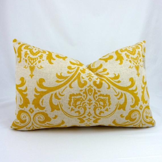 Mustard Yellow Pillow Cover. Lumbar Pillow Cover. Ochre Yellow Pillow. 12 x 18 inch Pillow Cover. Lumbar Pillow Cover. Yellow Cushion Cover