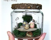 Fantasy Moss Terrarium - Fairytale Theater Series - The Three Little Kittens ON SALE