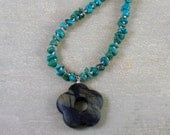 Necklace - Turquoise nugg...