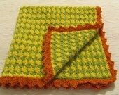 Wimzical colorful, Hand Crochet Baby Blanket