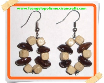 CALIFORNIA - HaNdMaDe EaRRiNgS WiTh ReaL CoFFee BeAnS