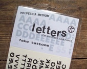 LETTERS - Fake Tattoos - Single Pack