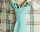 Seafoam Green Linen Neck Tie-handmade from a upcycled materials-The Official Neck Tie Reformatory of Toronto