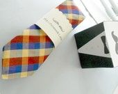 Bold Plaid Necktie-Handmade by The Neck Tie Reformatory