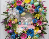 The Egg Peddler Is Back   Lg. Easter, Spring Wreath
