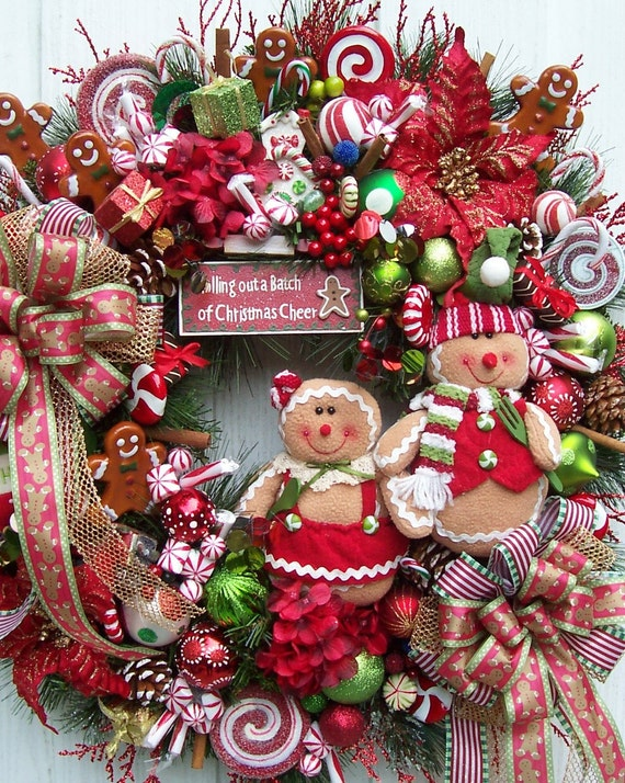 The Bakers Of Gingerbread Christmas Holiday Wreath