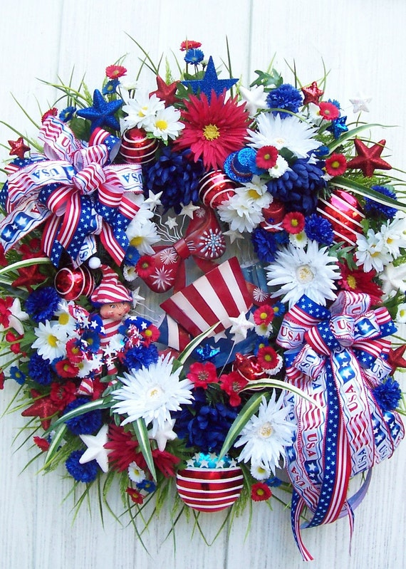 RESERVED FOR CINDY   Patriotic Wreath  Inauguration Day Presidents Day Memorial Day Independence Day Labor Day