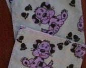 Flannel Family Cloth/Cloth Wipes Puppy Print