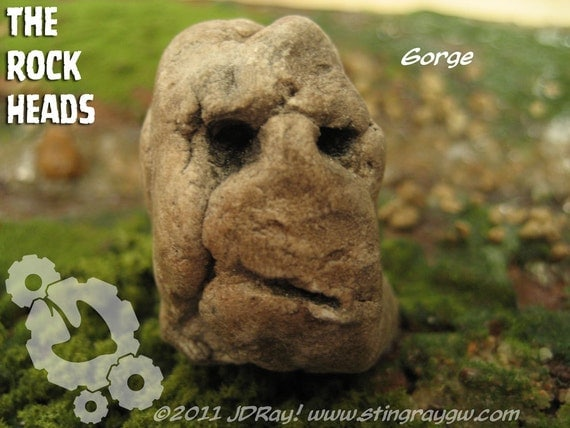 "The Rock Heads ""Gorge"" mini clay sculpture"
