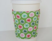 Coffee Cup Cozy - Christmas Dots