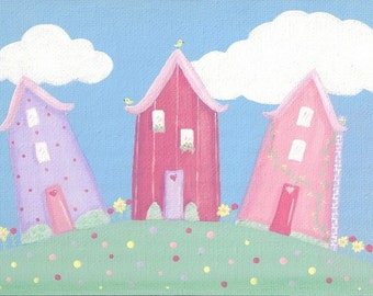 Little Pink Houses - 5x7 Print