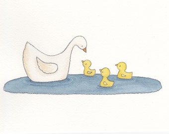 Mommy and Ducklings 8x10 Print