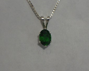 Chrome diopside necklace