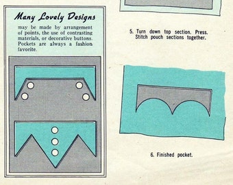 50s How to Sew PDF Fitting Buttonholes and Decorative and Bound Pockets, Welt, Corded, Scalloped and More Tutorial eBook