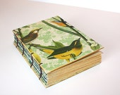 Birds of a Feather Flock Together Handmade Journal with Coptic Binding