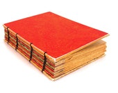 Orange Handmade Coptic Journal
