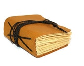 Chunky Mustard Yellow Hand Bound Leather Journal