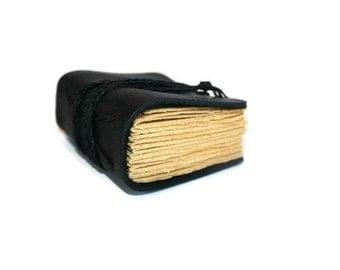 Leather Journal,  Wedding Vow Book, Pocket Notebook, Groomsman Gifts, Prayer Journal, Small notebook, Black Bound Book